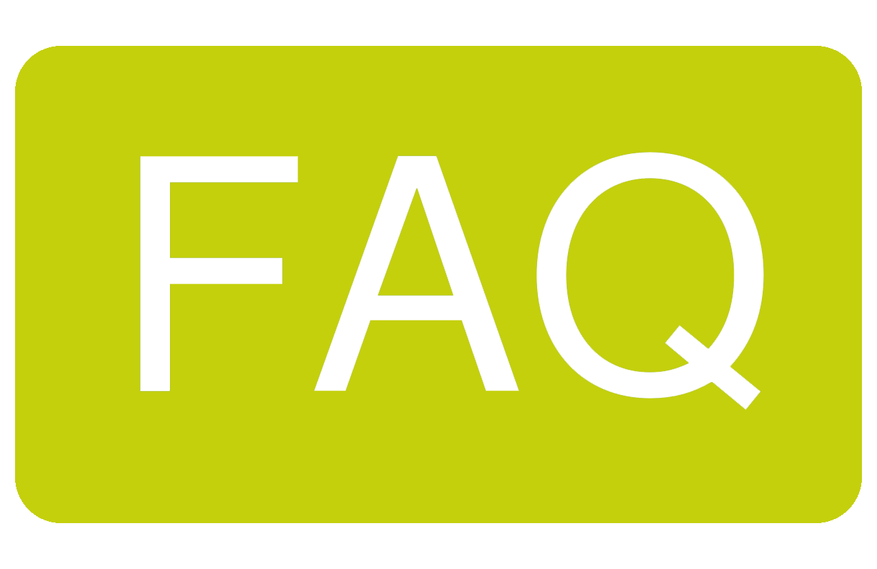 zielone pole zawierające napis FAQ